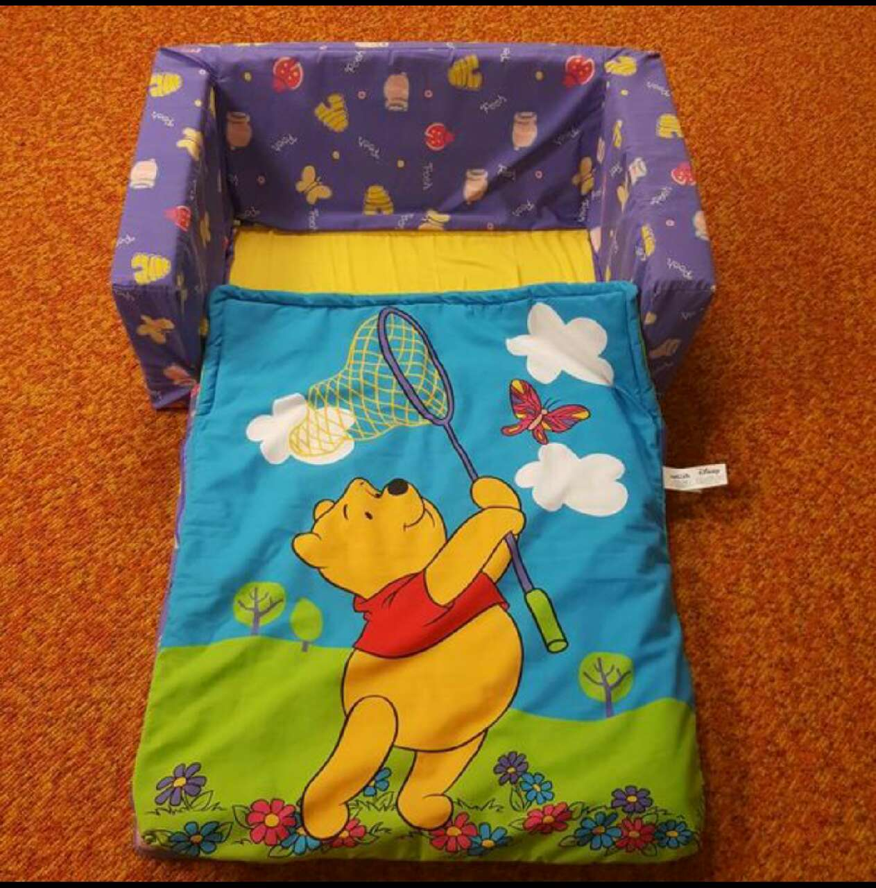 disney princess flip out sofa with slumber bag ikea karlstad covers uk letgo winnie the pooh s in utica mi