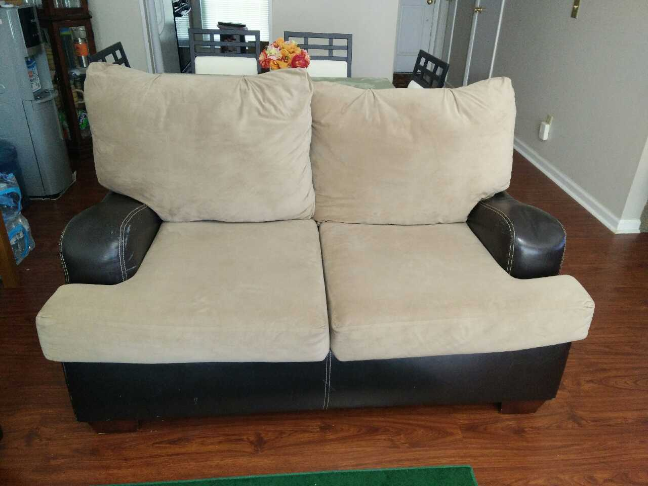 love sofa for sale chesterfield corner grey letgo brown and seat w in kroger ga
