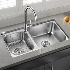 36 Inch Kitchen Sink Henckels Shears 子达厨房水槽双槽加厚304不锈钢洗菜盆洗碗池水斗左小右大反方向台上台下 子达厨房水槽双槽加厚304不锈钢洗菜盆洗碗池水