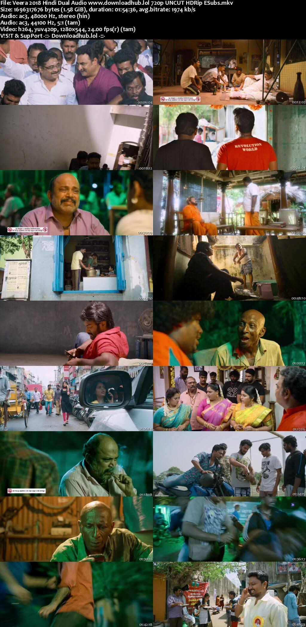 Veera 2018 Hindi Dual Audio Movie 350MB 480p HDRip Download