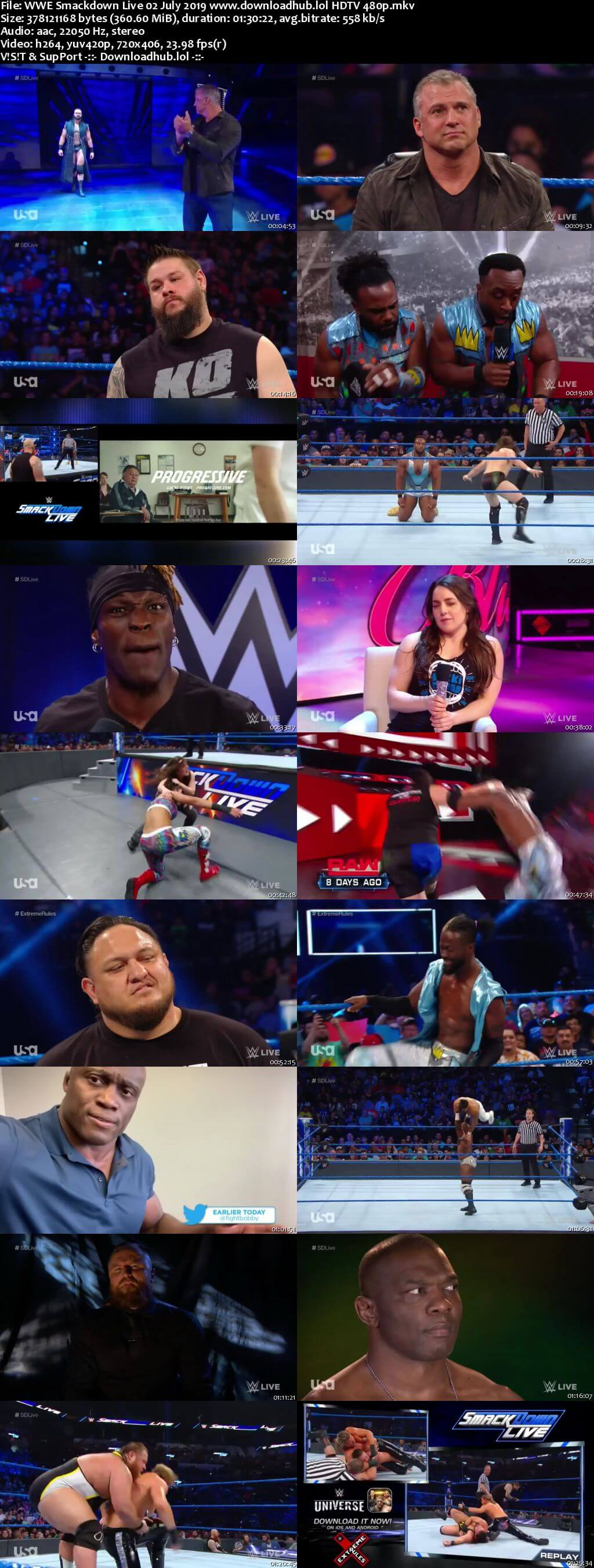 WWE Smackdown Live 2nd July 2019 300MB Download