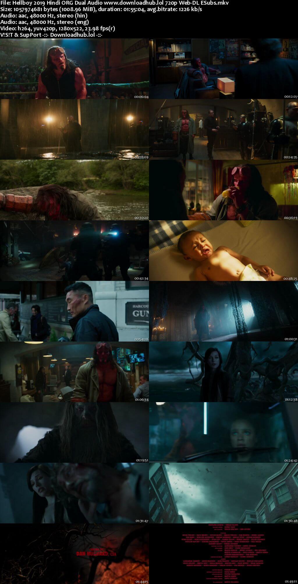 Hellboy 2019 Movie Hindi Dual Audio 350MB ESubs 480p Download