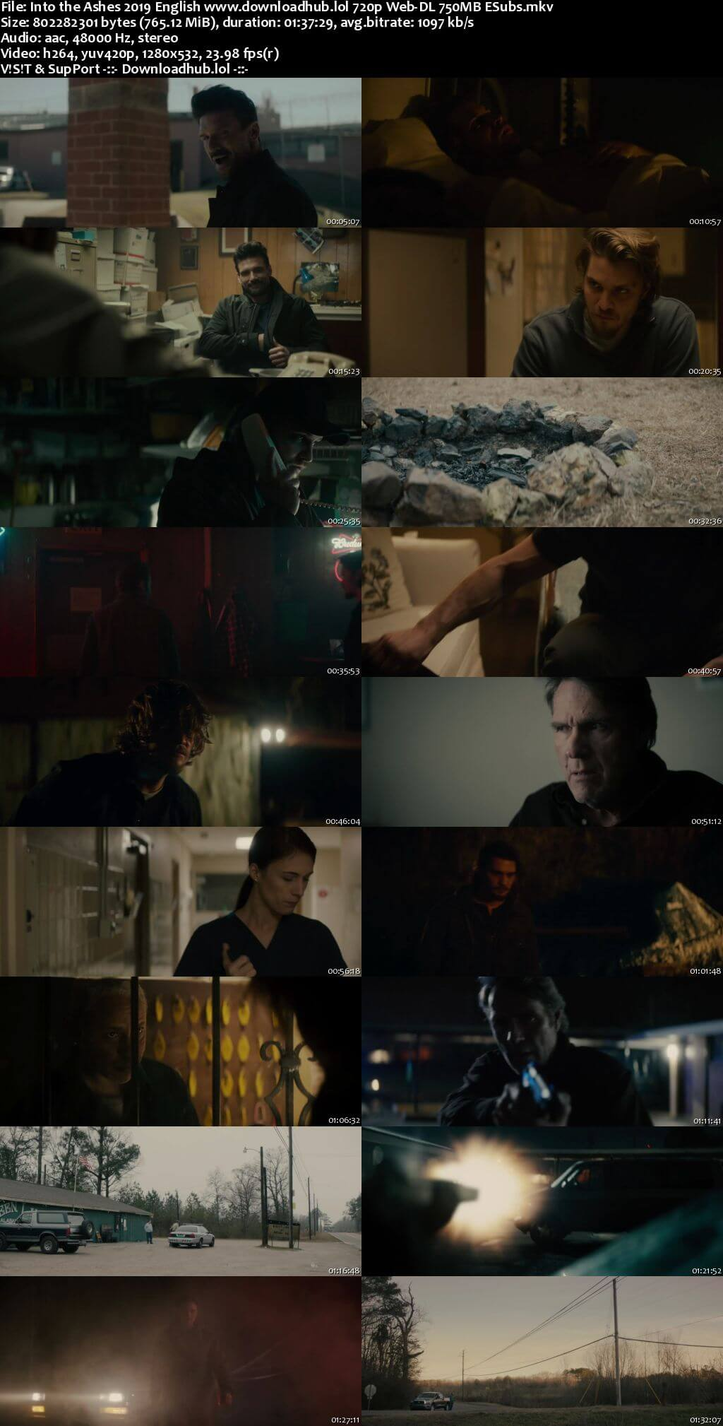 Into the Ashes 2019 English Movie 280MB 480p ESubs Download