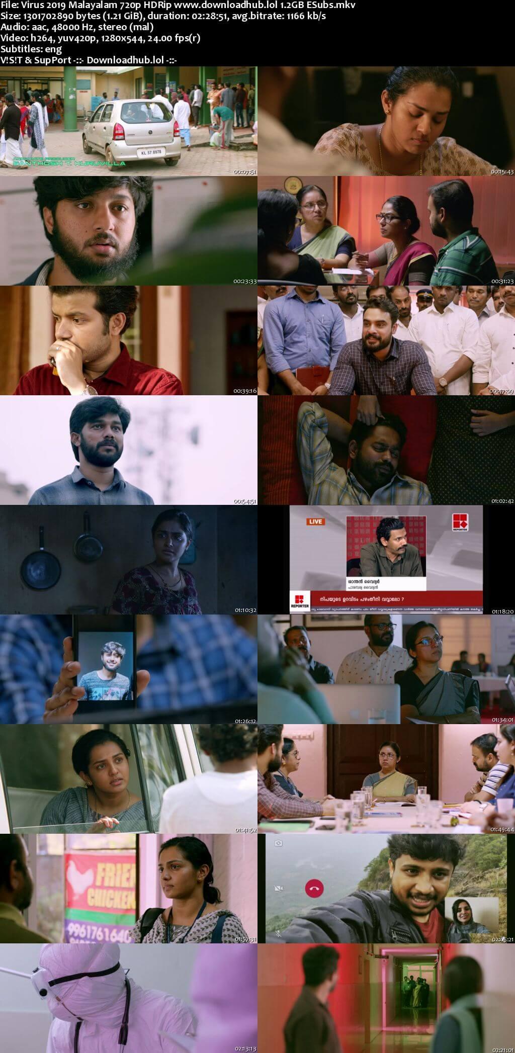 Virus 2019 Malayalam Movie 720p HDRip ESubs Download