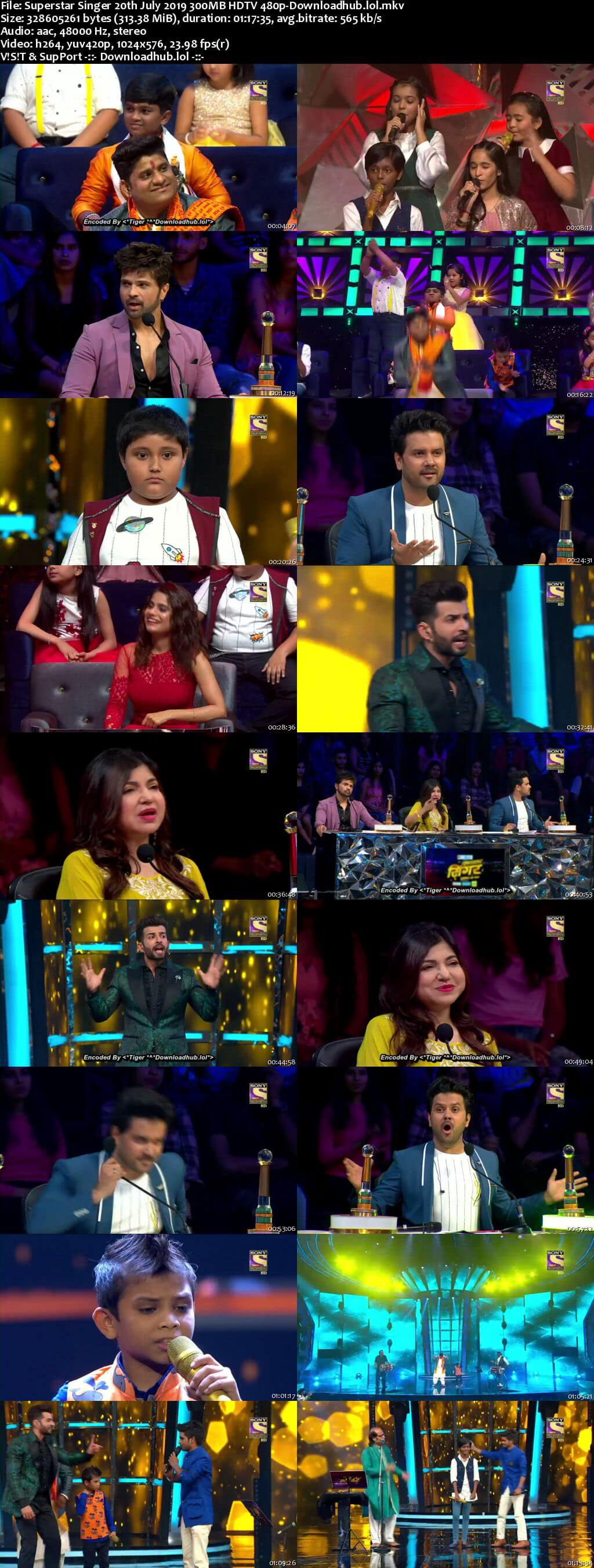 Watch Online Superstar Singer 20th July 2019 300MB Download