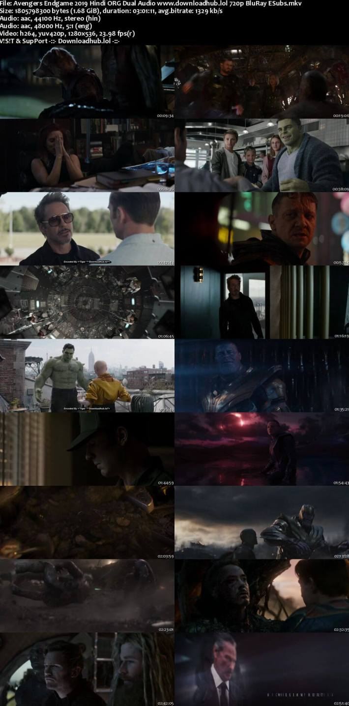 Download Avengers Endgame 2019 Full Movie in Hindi 720p, 480p HDRip