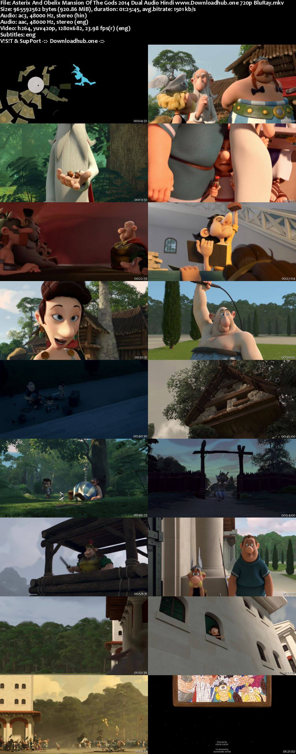 Download Asterix and Obelix Mansion of the Gods 2014 Hindi Dual Audio 720p BluRay ESubs