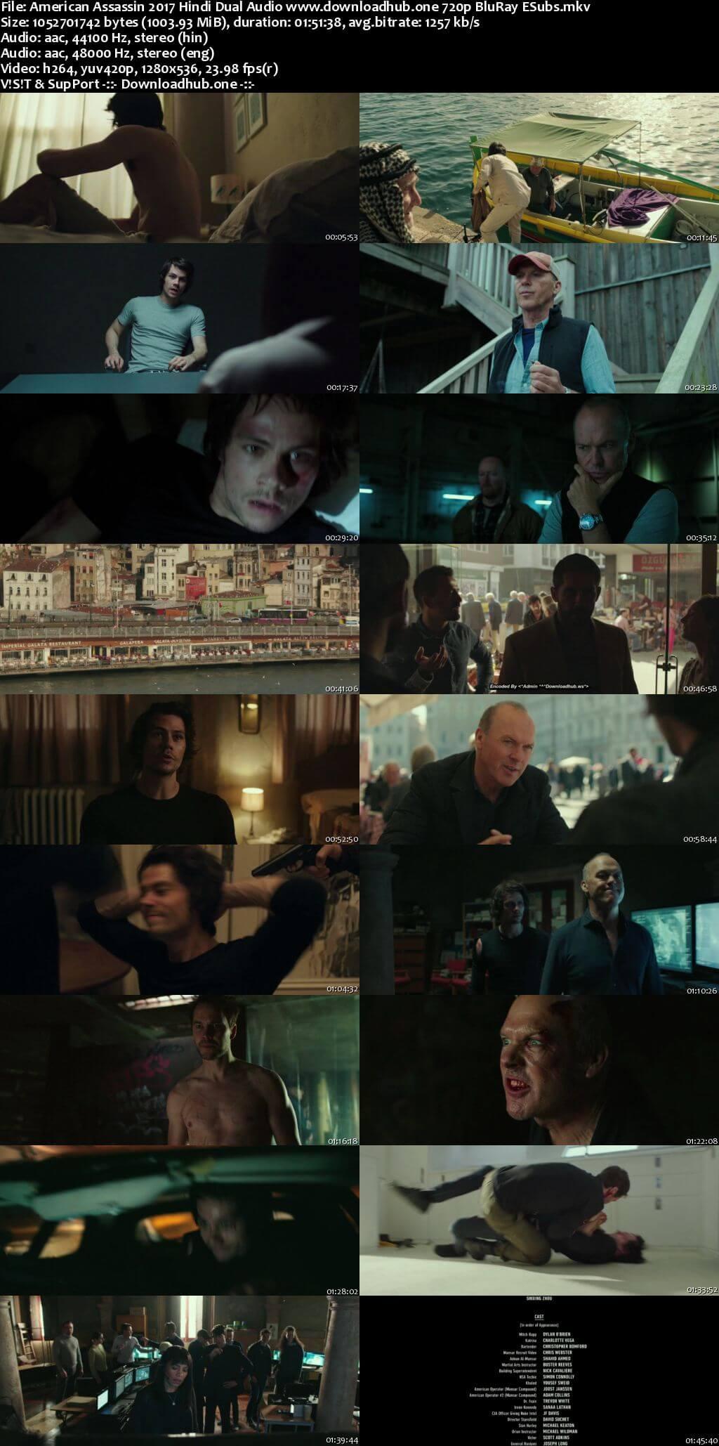 Download American Assassin 2017 Hindi Dual Audio Movie 720p BluRay ESubs