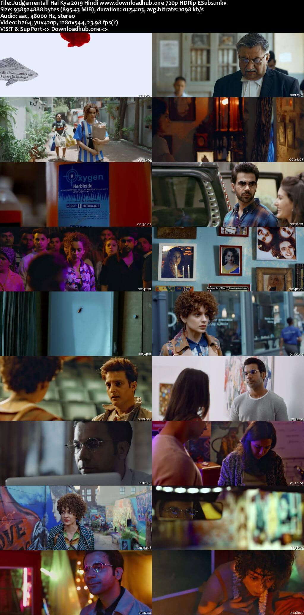 Download Judgementall Hai Kya 2019 Hindi Movie 720p HDRip ESubs