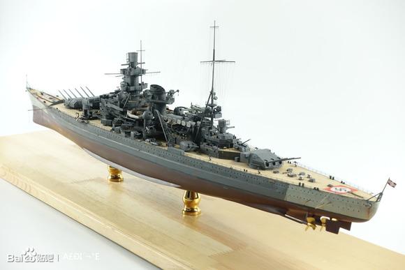 """【圖片】1:350德國海軍""""沙恩霍斯特""""號戰列巡洋艦1943【模型船吧】_百度貼吧"""