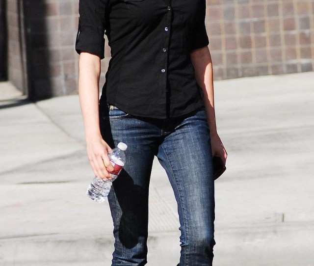 Vote For This Picture Taylor Cole Candid Picture While Spotted Walking The Street Recently Wearing Long Black Boots Over Denim Trousers And A Black Shirt