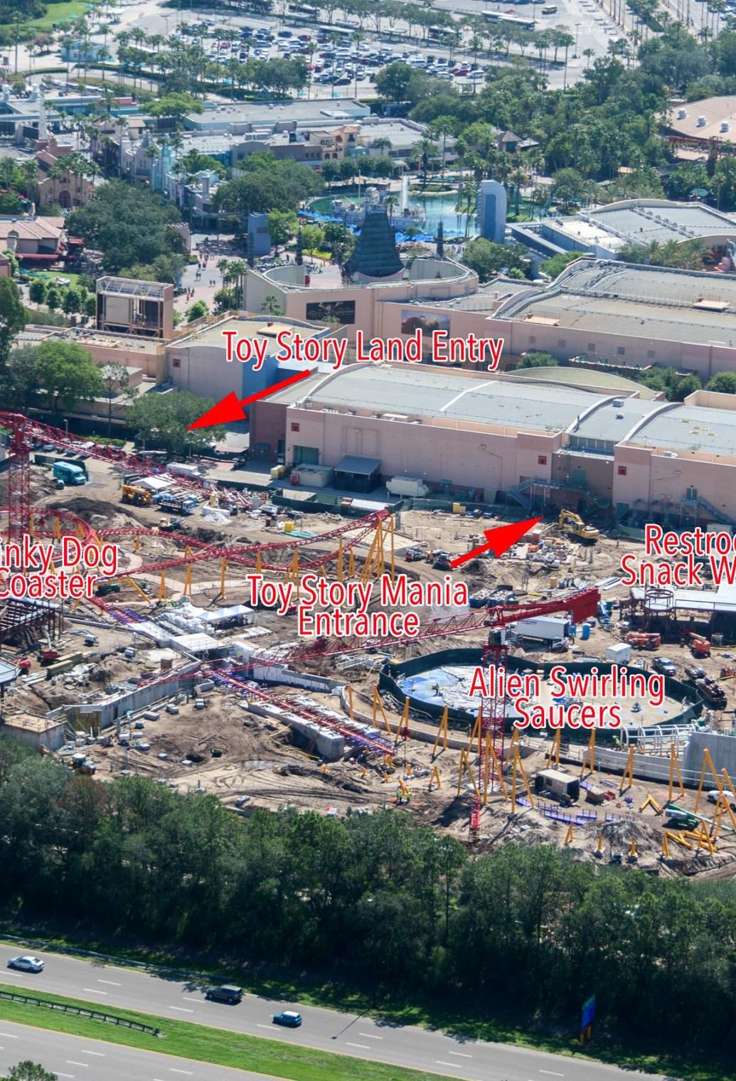 Aerial of Hollywood Studios
