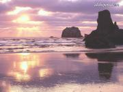 Sunset Light, Bandon, Oregon - 1600x1200 - ID 31.jpg image hosted at ImgTaxi.com