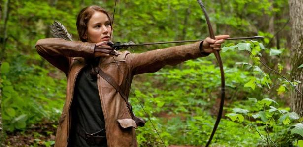 Jennifer Lawrence em cena de Jogos Vorazes, de Gary Ross