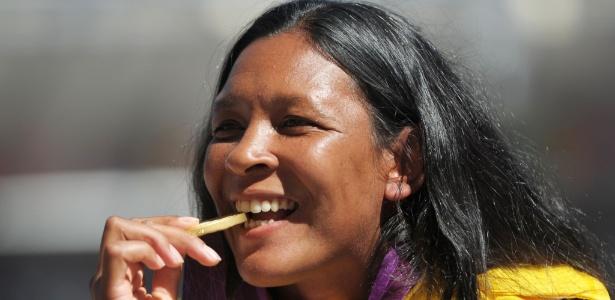 Shirlene Coelho ganhou a medalha de ouro no lançamento de dardo, classe  F37/38