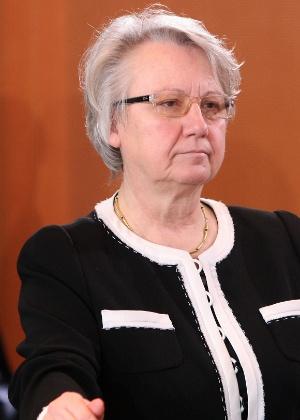 A ministra da Educação da Alemanha, Annette Schavan