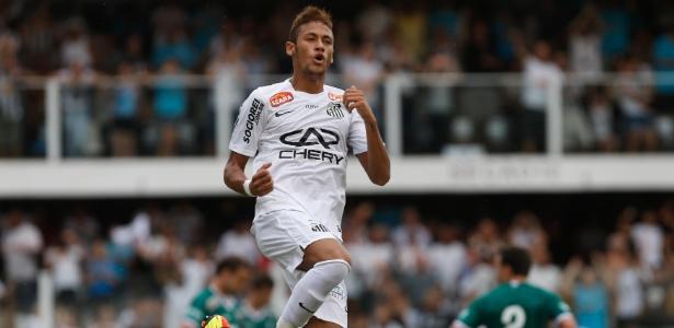 Neymar deu assistência para o gol de André contra o Guarani, neste sábado