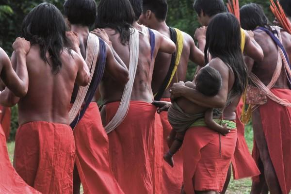 Indígenas do povo Wajãpi foram os primeiros a se preparar para uma consulta prévia. Foto: Mário Vilela/Funai