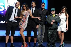 """Equipe do """"Arena SBT"""", com apresentação de Lívia Andrade"""