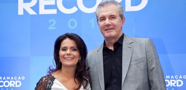 """Adriana Araújo e Celso Freitas, apresentadores do """"Jornal da Record"""""""