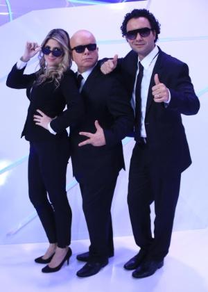 """Dani Calabresa, Marcelo Tas e Marco Luque, integrantes do """"CQC""""; os dois primeiros vão deixar o programa"""