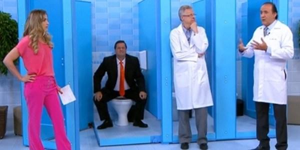 """Mímico diverte ao simular ida ao banheiro no """"Bem Estar"""": """"Sou exagerado"""""""