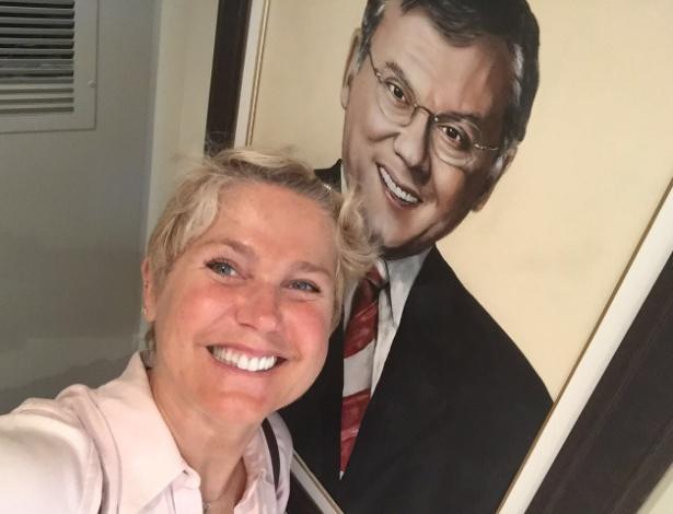 Xuxa no apartamento de Milton Neves em Nova York