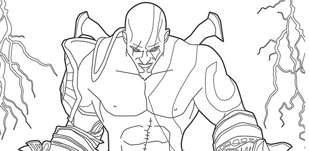 Kratos para pintar: Até PlayStation tem livro de colorir