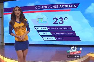 No México (foto) ou no Brasil, previsão do tempo parece concurso de beleza