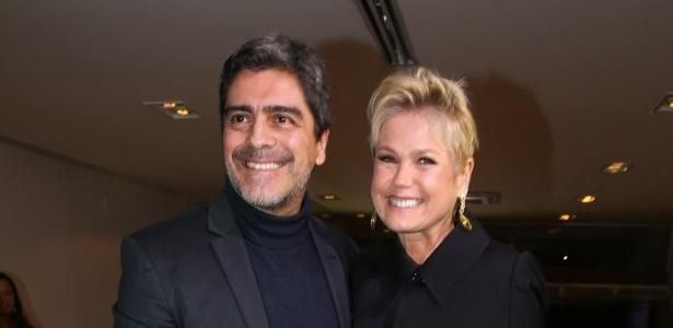 Xuxa com o namorado Junno Andrade