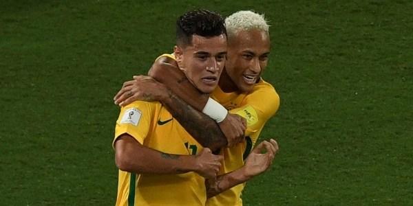Neymar e Coutinho marcaram na goleada sobre a Bolívia por 5 a 0