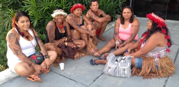 24.set.2013 - Um grupo de cerca de 60 Indígenas ocupa a Secretaria Estadual da Educação da Bahia