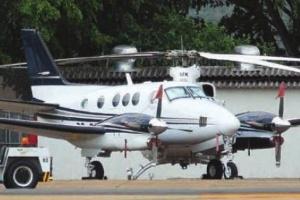 Avião onde estava o dinheiro apreendido no ano passado em Brasília