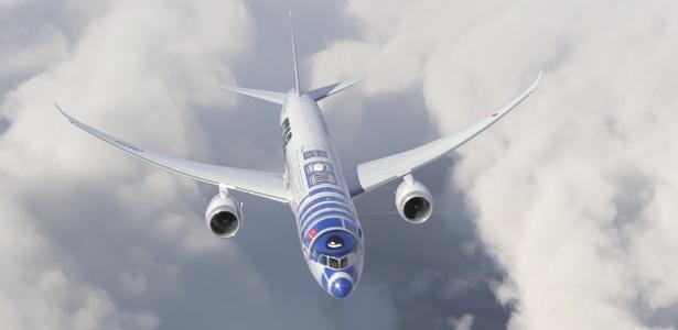 Antes, a All Nippon Airways já havia decorado um Boeing 787 com o carismático robôzinho R2-D2