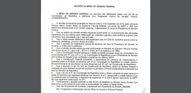 Saiba quem são os senadores que assinaram decisão a favor de Renan - Divulgação