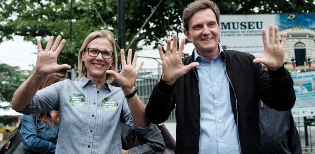 Marcelo Crivella é o novo prefeito do Rio de Janeiro com 59,16% dos votos - YASUYOSHI CHIBA/AFP