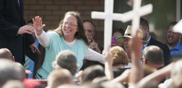 Kim Davis se tornou símbolo da oposição ao casamento gay nos EUA