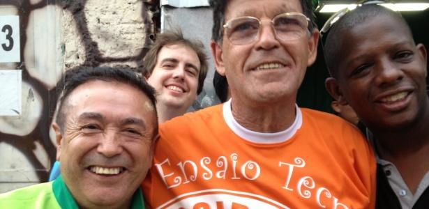 12.fev.2013 - Biro Biro, Mário Pires e Anderson, integrantes da Mocidade Alegre