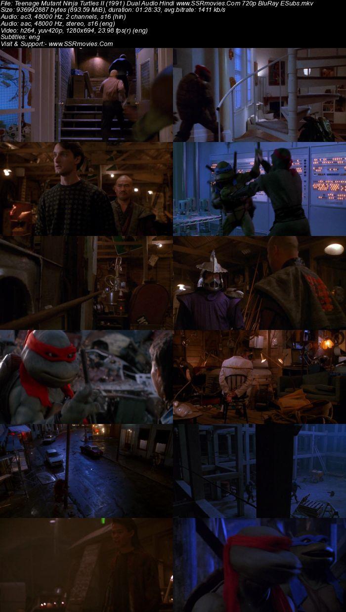 Teenage Mutant Ninja Turtles II (1991) Dual Audio Hindi 480p BluRay x264 300MB Movie Download