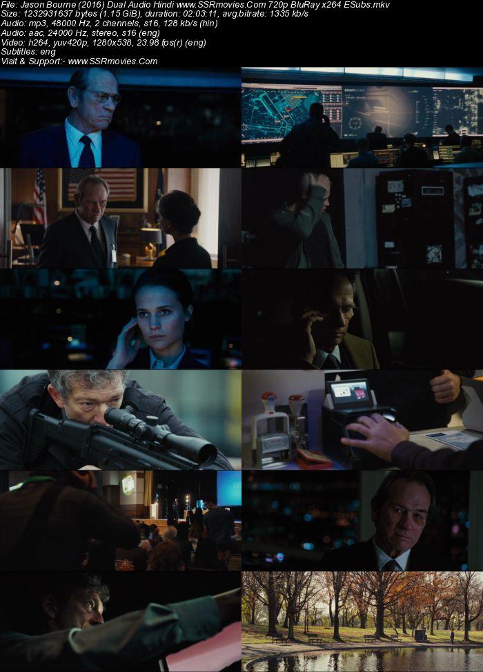 Jason Bourne (2016) Dual Audio Hindi 720p BluRay x264 1.1GB Full Movie Download
