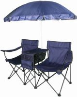 Double Chair with Umbrella, Canopy Chair, Folding chair By ...