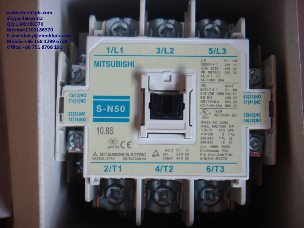 Limit Switch, Contactor, Circuit Breaker, Relay, PLC