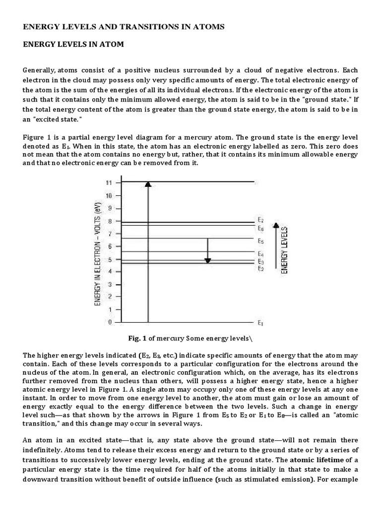 mercury energy level diagram cat v wiring levels and transitions in atoms spectral line