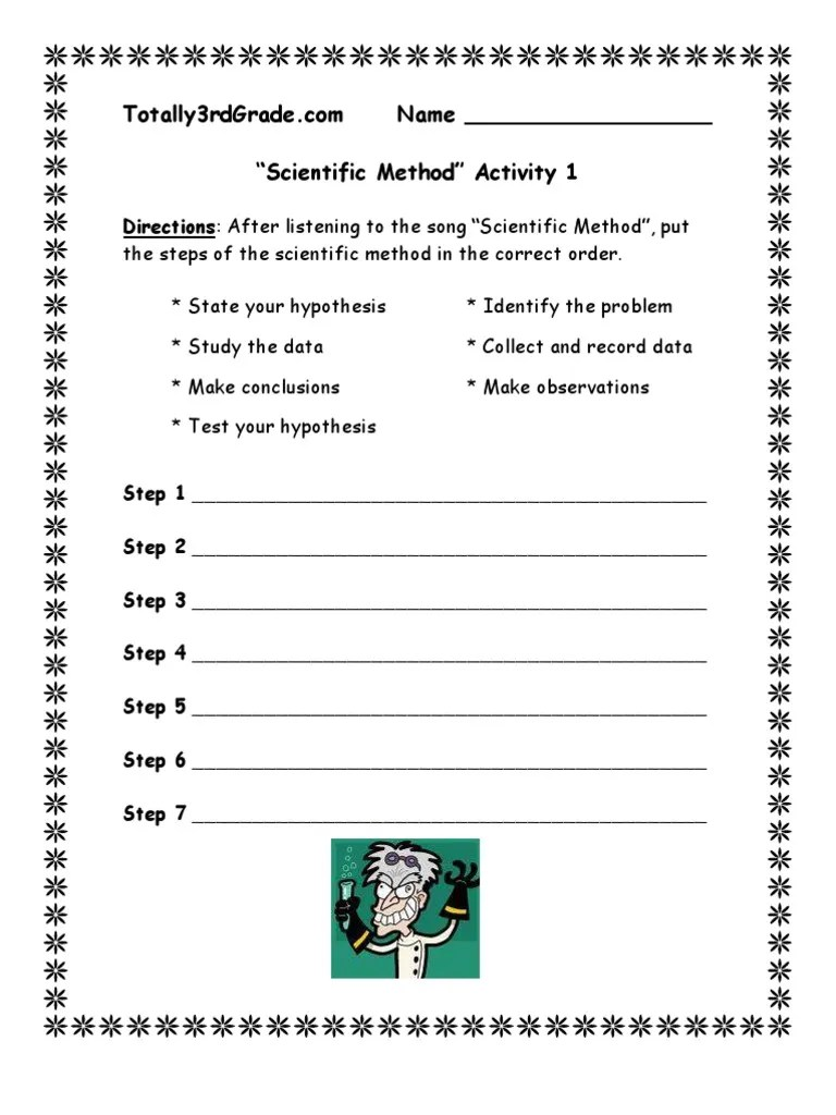 3rd Grade   Scientific Method Worksheet   Scientific Method   Observation [ 1024 x 768 Pixel ]