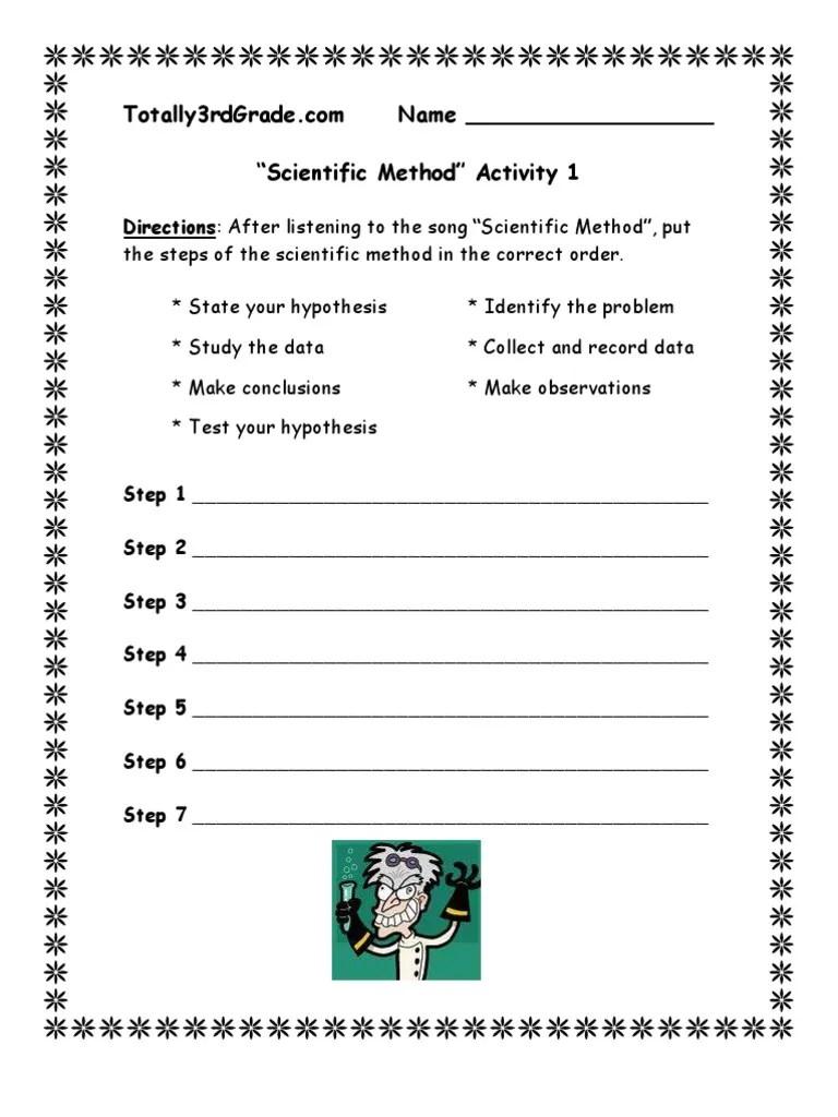 small resolution of 3rd Grade   Scientific Method Worksheet   Scientific Method   Observation