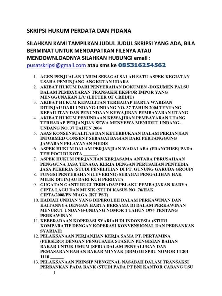 Contoh Proposal Skripsi Hukum Perdata Tentang Perkawinan Beda Agama Kumpulan Berbagai Skripsi Cute766