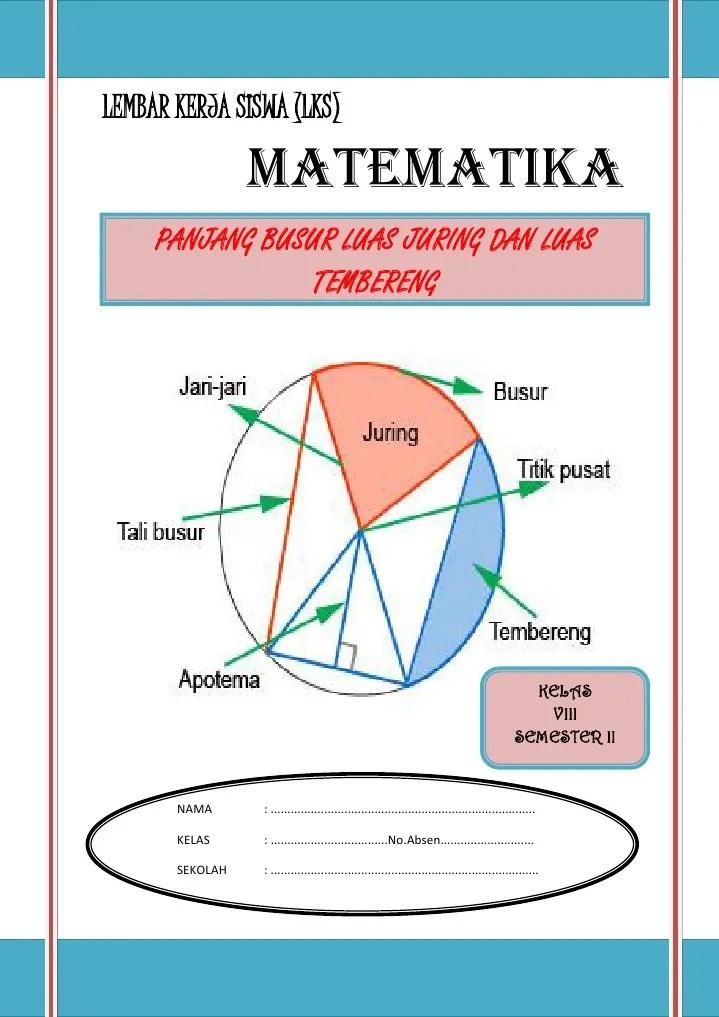Luas Tembereng Lingkaran : tembereng, lingkaran, PANJANG, BUSUR,LIAS, JURING,LUAS, TEMBERENG