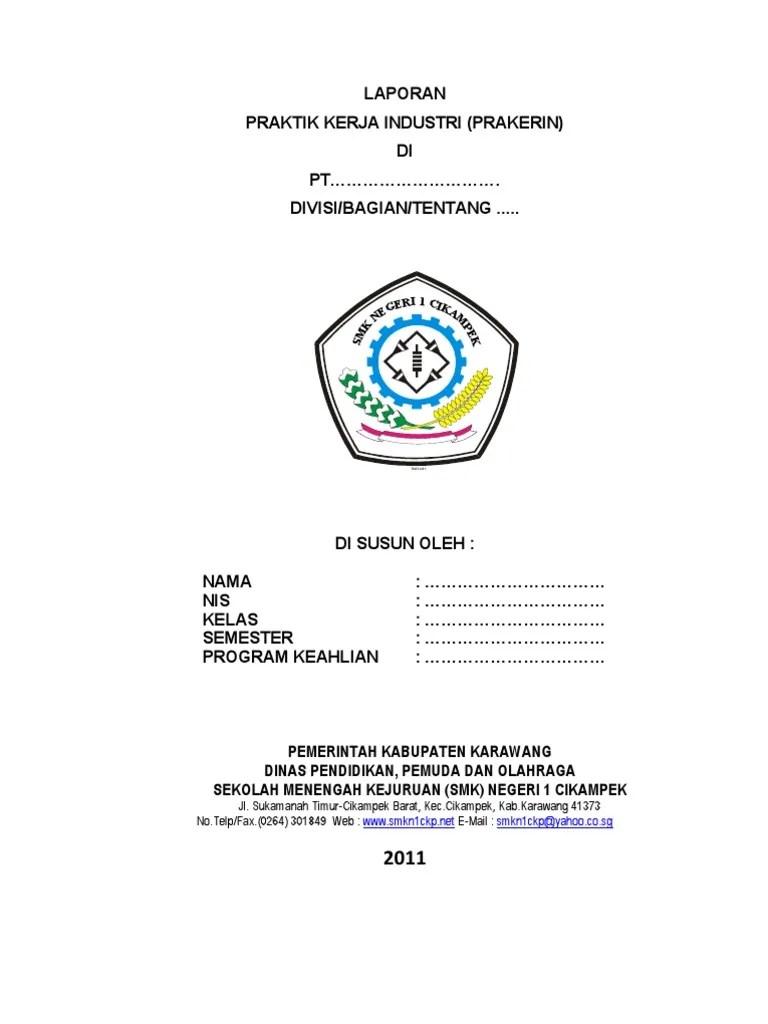 Contoh Cover Laporan Pkl Gambaran