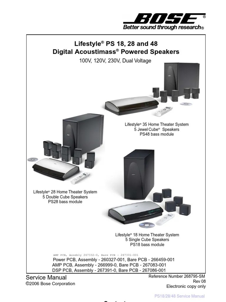 bose lifestyle ps 18 ps 28 ps 48 service manual electrostatic discharge bipolar junction transistor [ 768 x 1024 Pixel ]