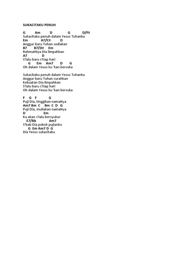 Chord Yesus Pokok : chord, yesus, pokok, Sukacitaku, Penuh